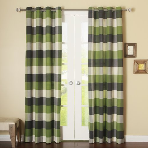 Best Home Fashion, Inc. Bold Check Grommet Curtain Panels (Set of 2)