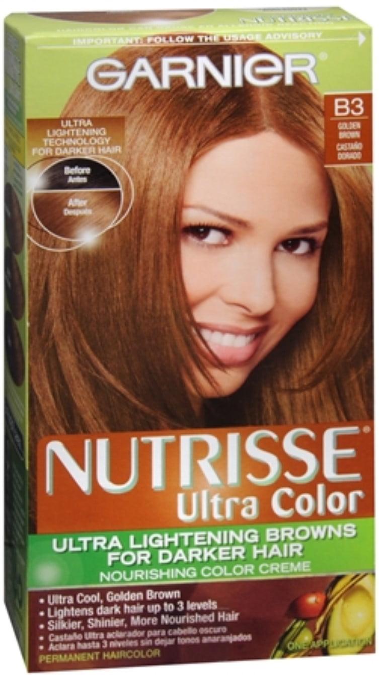 Garnier Nutrisse Haircolor Nutri Browns B3 Cafe Con Leche Golden