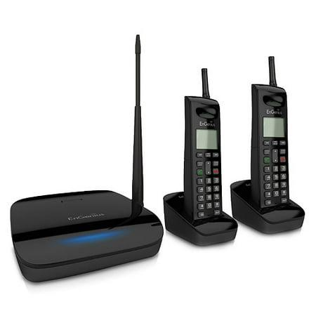 Engenius Cordless Telephone - Engenius Freestyl 2 (2 Handsets) Extreme Range Scalable Cordless Phone System