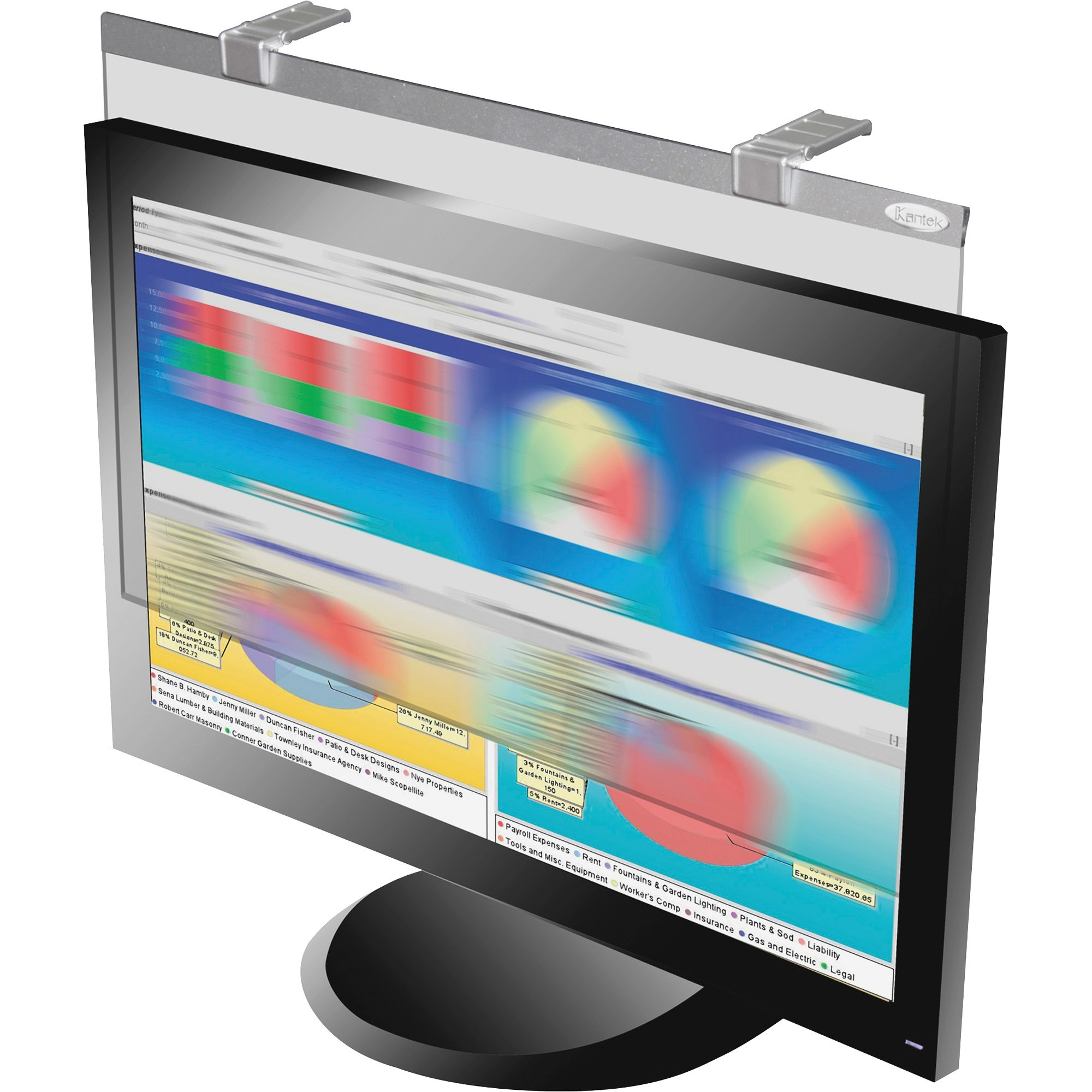 "Kantek LCD Protect Deluxe Privacy Filter fits all Widescreen 24"" Monitors"