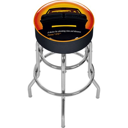 Trademark Global Pontiac GTO Time and Distance Padded Swivel Bar Stool