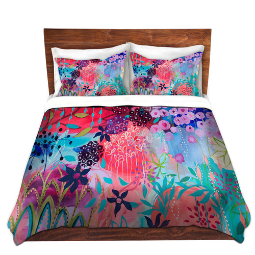 DiaNoche Spirit Garden Flowers Duvet Cover Set