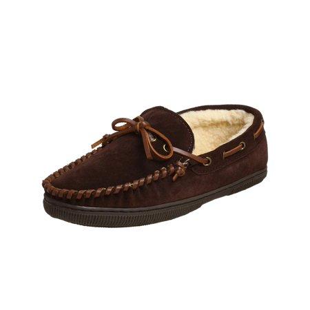 Tamarac Mens Arizona Leather Closed Toe Slip On Slippers