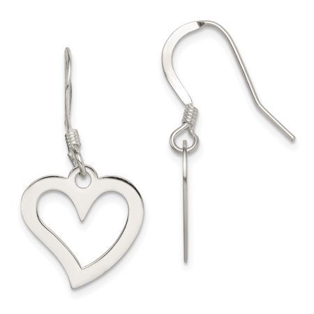 925 Sterling Silver Heart Drop Dangle Chandelier Earrings Love Gifts For Women For Her