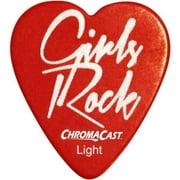 ChromaCast Heart Shaped Guitar Picks, 12 Pack
