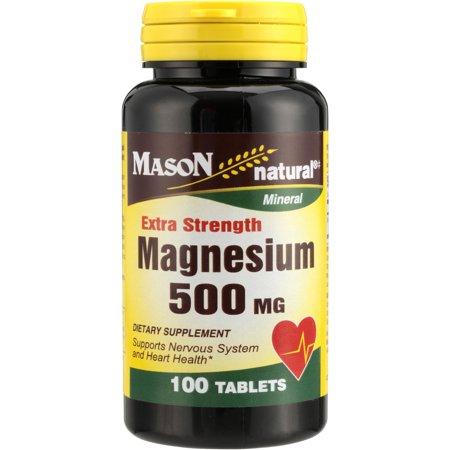 Mason Natural Magnesium - Mason Natural® Extra Strength Magnesium 500mg Capsules Dietary Supplement 100 ct Bottle