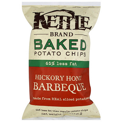 Kettle Brand Hickory Honey Barbeque Baked Potato Chips, 4 oz  (Pack of 15)