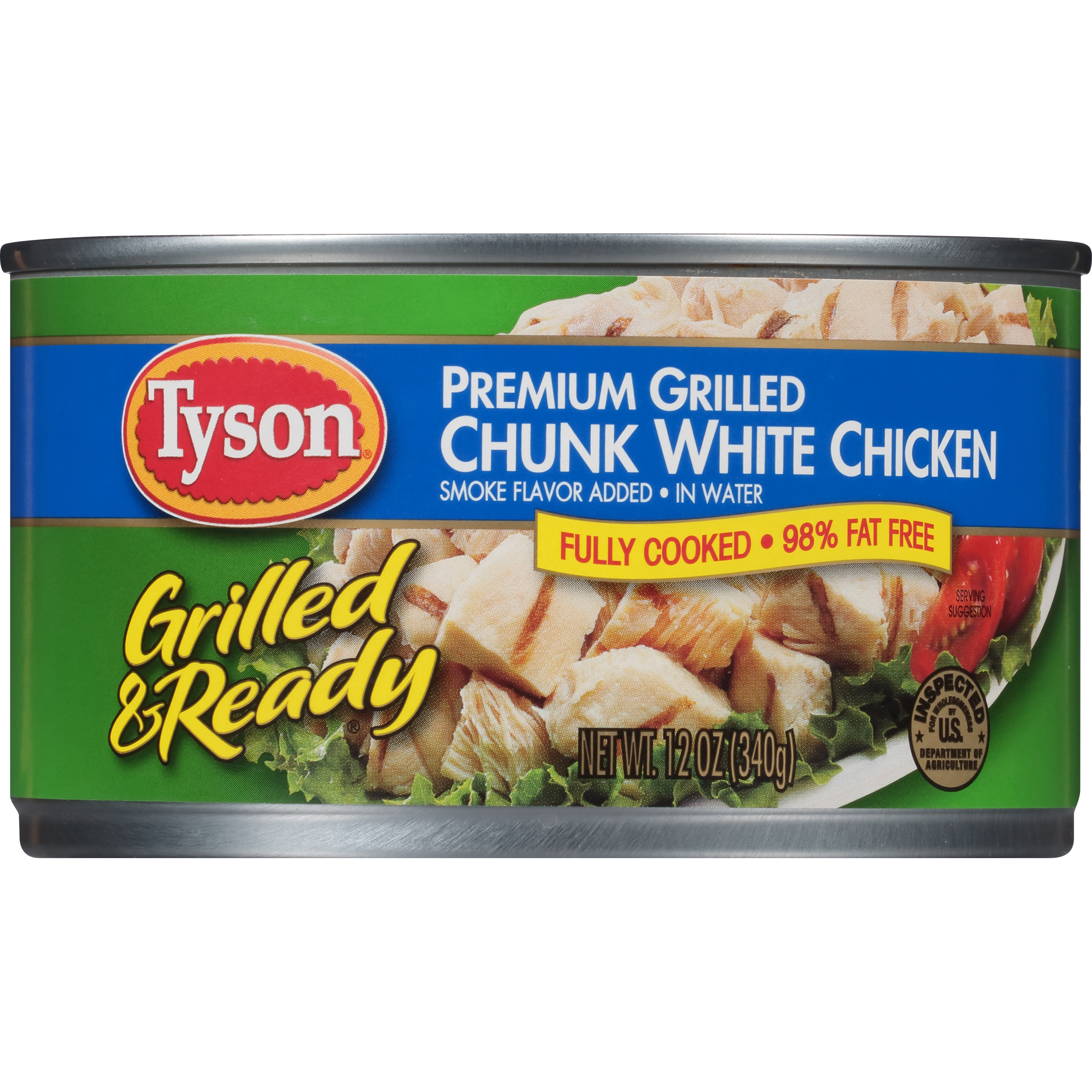 Tyson® Grilled & Ready® Premium Grilled Chunk White Chicken Breast, 12 oz.