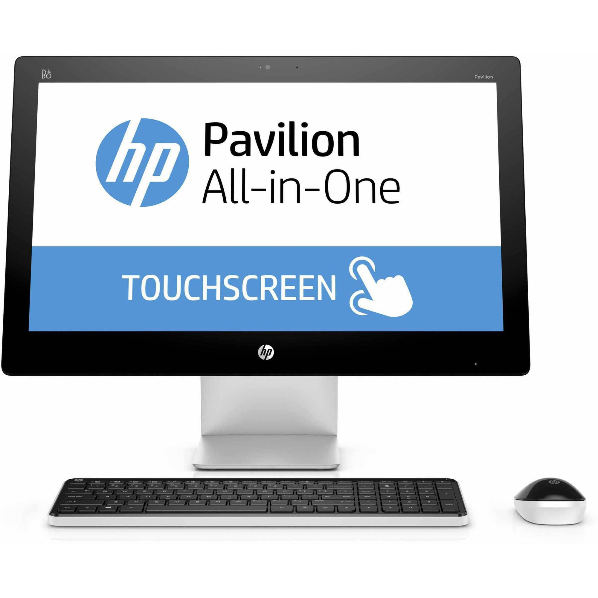 """HP Pavilion 23-q113w All-in-One Desktop PC with Intel Core i3-4170T Processor, 6GB Memory, 23"""" Touchscreen, 1TB Hard Drive and Windows 10 Home"""