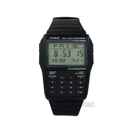 Men's Data Bank Calculator Watch, Black Resin Strap (Databank Resin)