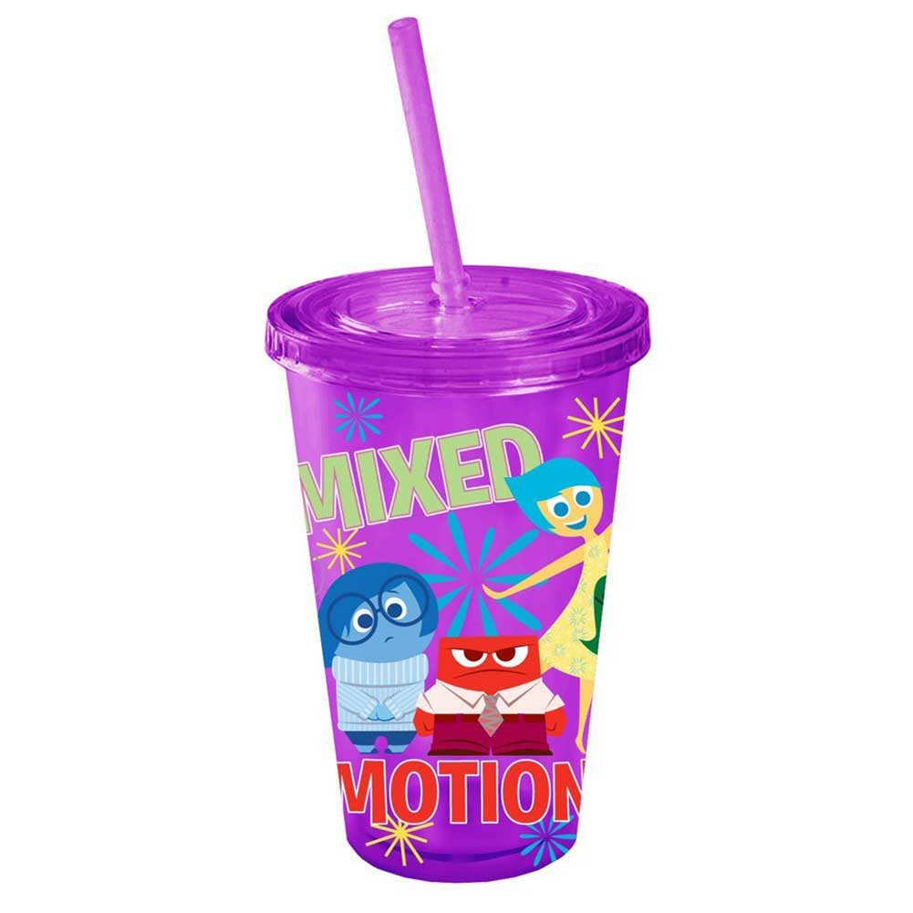 Inside Out Friends 16oz Plastic Cold Cup with Lid & Straw