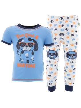 Duck Duck Goose Boys Too Cool Puppy Blue Cotton Pajamas