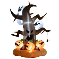 HOMCOM 8ft Halloween Inflatable Dead Tree with Ghost Pumpkins Deals