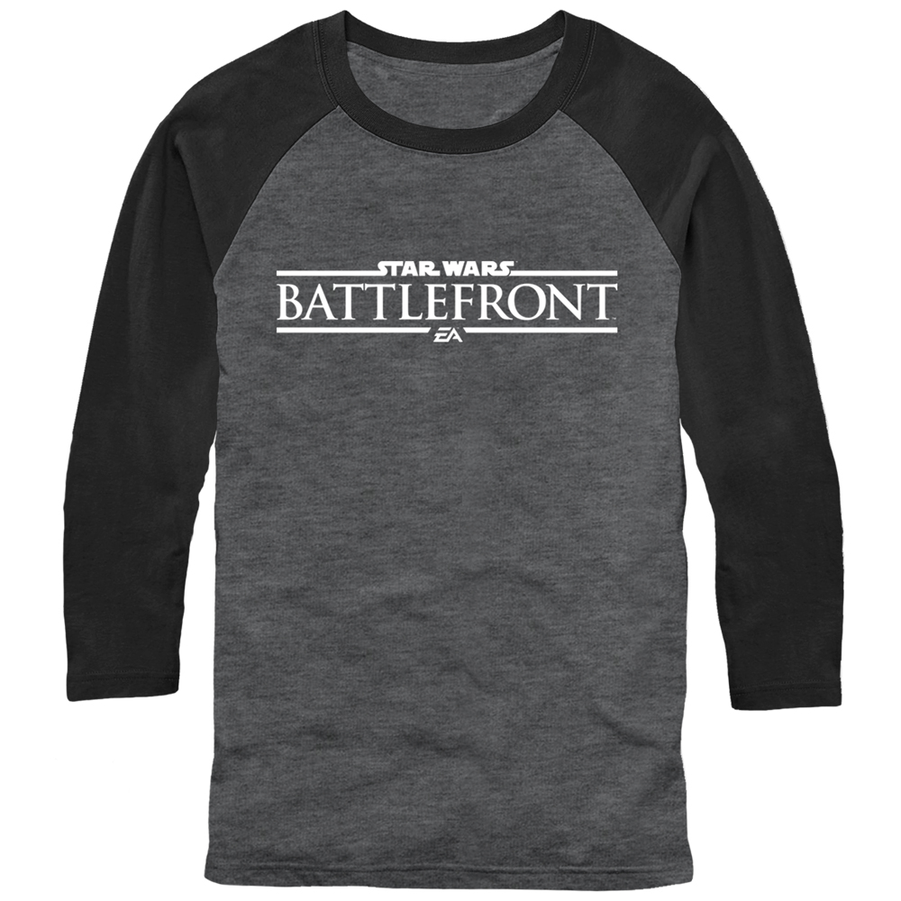Star Wars Battlefront Logo Mens Graphic Baseball Tee
