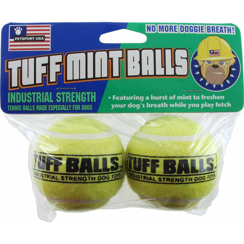 Petsport Usa Inc 70012 2 Count Tuff Mint Balls Dog Toy