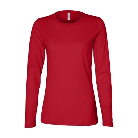 Bella + Canvas T-Shirts - Long Sleeve Women's Relaxed Long Sleeve Jersey Tee