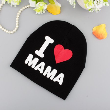 Hilitand Beanie Hat Brand New Unisex Cotton Beanie Hat For Children Boy Girl Soft Cap Kids Warm Winter(I LOVE MAMA)