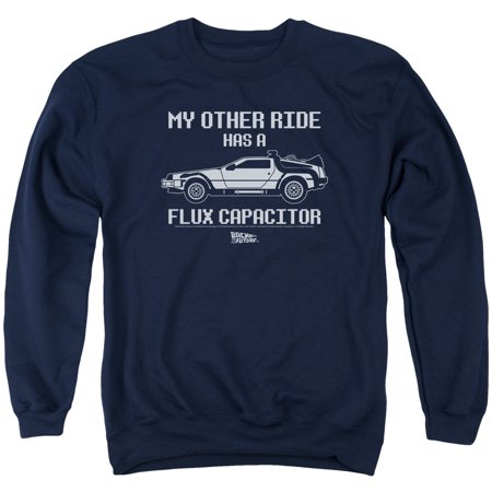 Back To The Future Sci-Fi Movie My Other Ride Flux Capacitor Crewneck