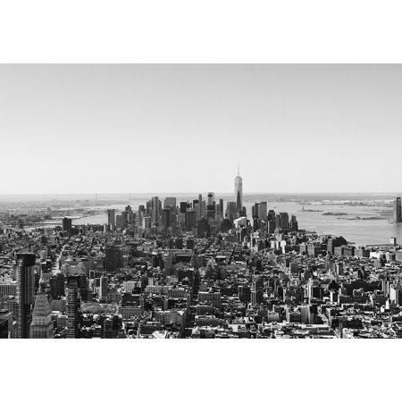 Framed Art for Your Wall Skyscraper New Manhattan City York Urban NYC 10x13 (Frames In Nyc)