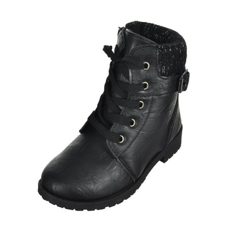 Suede Goth Boots Shoes - Blue Suede Shoes Girls' Boots (Sizes 5 - 10)