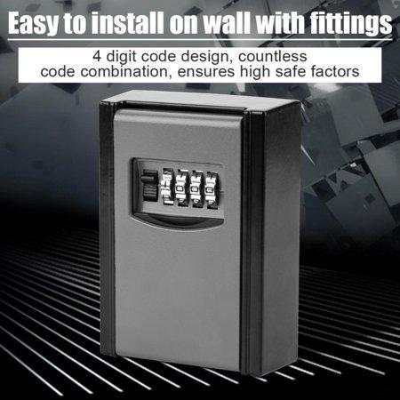 Yosoo 4 Digit Combination Password Key Storage Box Wall Mounted Safety