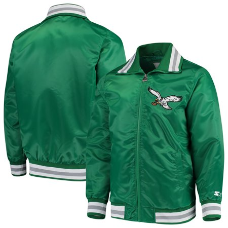 Philadelphia Eagles Starter Captain Satin Varsity Jacket - Midnight
