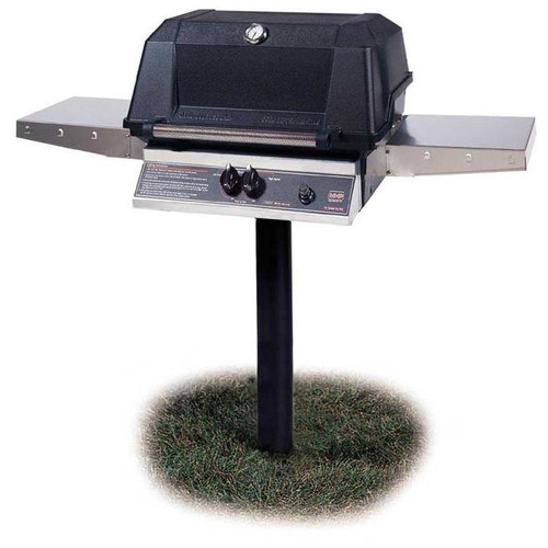 Modern Home Products Heritage 1-Burner Natural Gas Grill with Side Shelves