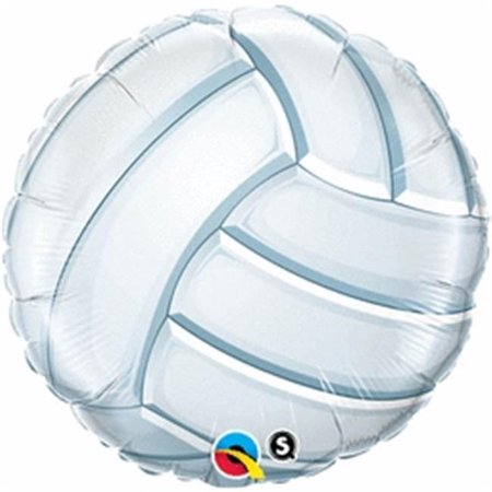 Qualatex 61070 18 in. Volleyball Flat Foil Balloon - Pack of 5