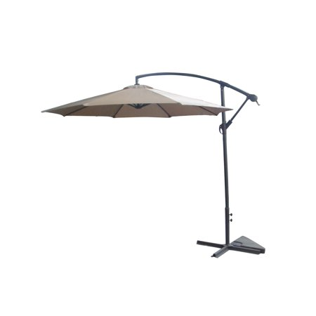 Palm Springs 10ft Offset Garden Umbrella Outdoor Patio Hanging Canopy - Tan ()