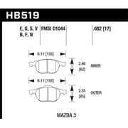 Hawk HPS 08-09 Mazda 3 / Ford/ Volvo HPS Street Front Brake Pads