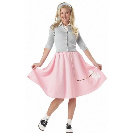 Peacock Skirt Costume (Adult Poodle Skirt (2 Colors) Costume California Costumes)