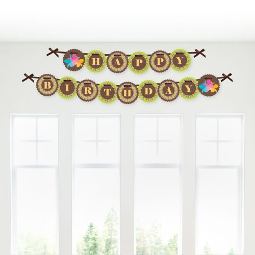 Luau - Birthday Party Garland Banners