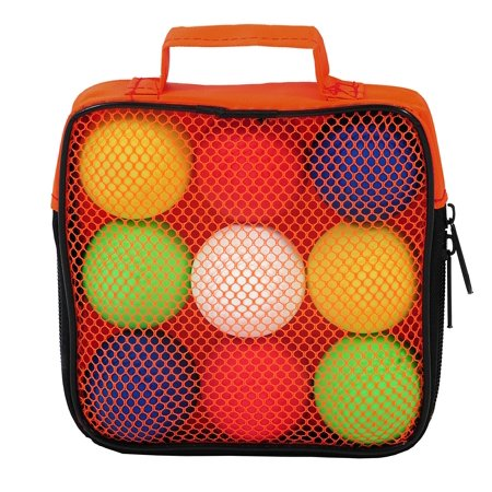 Backpack Bocce, Game includes 9 PVC bocce balls By Outside Inside