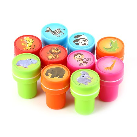 10 PCs Assorted Zoo Animals Stamps Kids Party Favors Event Supplies for Birthday Party Gift Toys Boy Girl Pinata Fillers](Detroit Zoo Halloween Events)