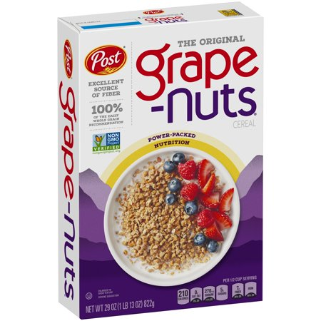 Post Grape Nuts Breakfast Cereal, The Original, 29