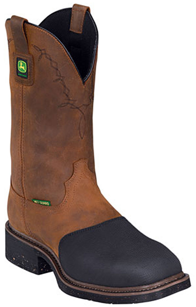 John Deere Men's Fire-Resistant Western Work Boot Steel Toe Jd5374 by John Deere