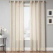 Softline  Stambridge Faux Linen Grommet Top Curtain Panel 50 x 84 84 Inches