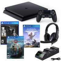 PlayStation 4lim 1TB Console with Last of Us, God of War, Horison: Zero Dawn and Accessories