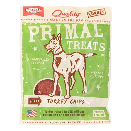 Primal Pet Foods Grain-Free Jerky Turkey Chips Dry Dog Treat, 3 oz - Halloween Food Treats