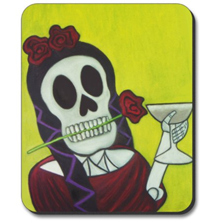 Art Plates Mouse Pad - Margarita Day of the - Dead Mouse Head For Sale
