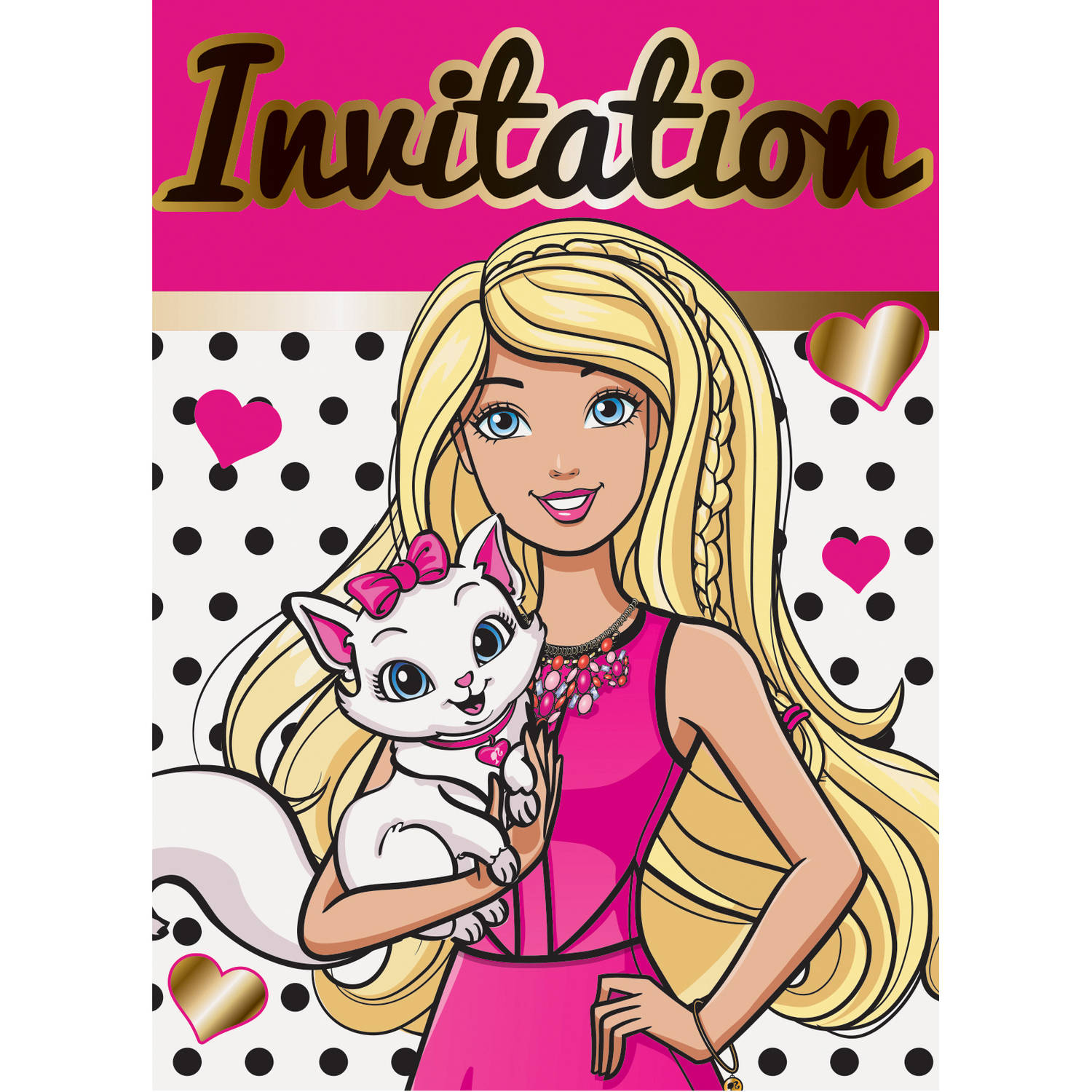 Barbie Invitations, 8ct
