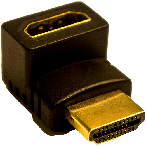 Calrad 35-714 HDMI Right Angle Adapter Up 90 Degrees