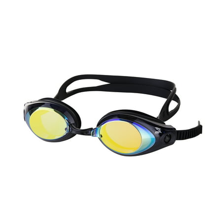 IST G39 Adult Swim Goggles with Anti-UV Polycarbonate Mirrored Lens (Black) (Was Ist Eine Goggle)