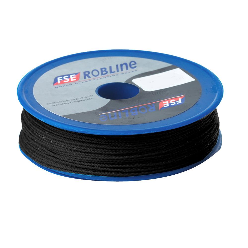 Fse Robline Waxed Tackle Yarn 0.8Mm Black