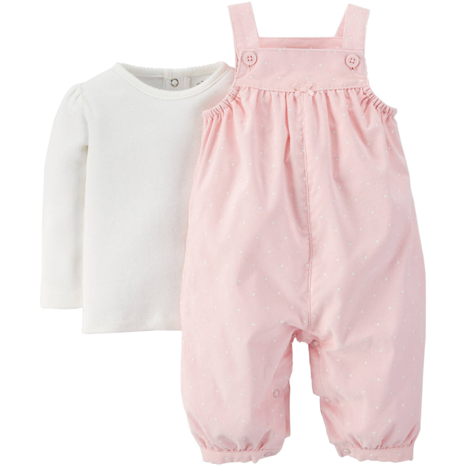 Newborn Baby Girl Shirt and Overalls Outfit Set Walmart