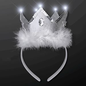 LED White Tiara Crown Headband by, Blinkee Fun! By blinkee