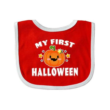 My First Halloween with Pumpkin and Stars Baby Bib (Dem Babies Halloween 2017)
