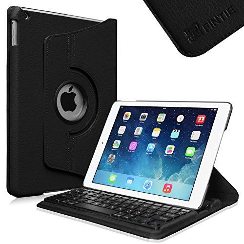 Fintie iPad Air (2013) Keyboard Case - 360 Degree Rotating Stand Cover with Built-in Wireless Bluetooth Keyboard, Black