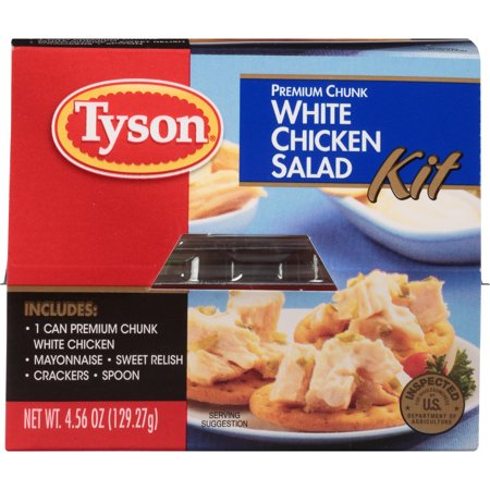 (12 Pack) Tyson® Premium Chunk White Chicken Salad Kit, 4.57