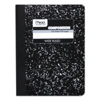 Mead Composition Book, Wide Ruled, 100 Sheets, Black Marble (72936)